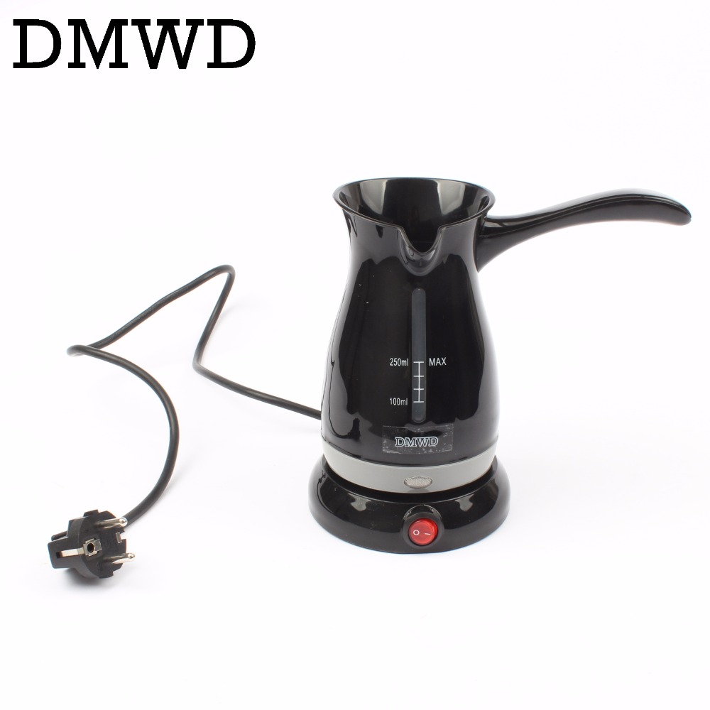 DMWD Automatic Stovetop Turkey Coffee Maker electric Mocha Espresso Latte kettle Cappuccino Milk foam Coffee Boiling Pot EU plug