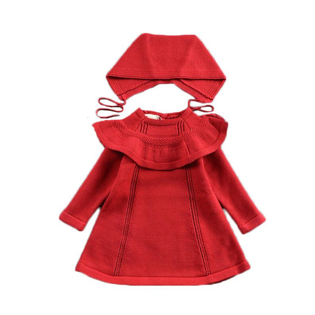 922ca4521 LILIGIRL Baby Knit Sweater Dress for Girls Warm Hooded Clothes 2018 ...