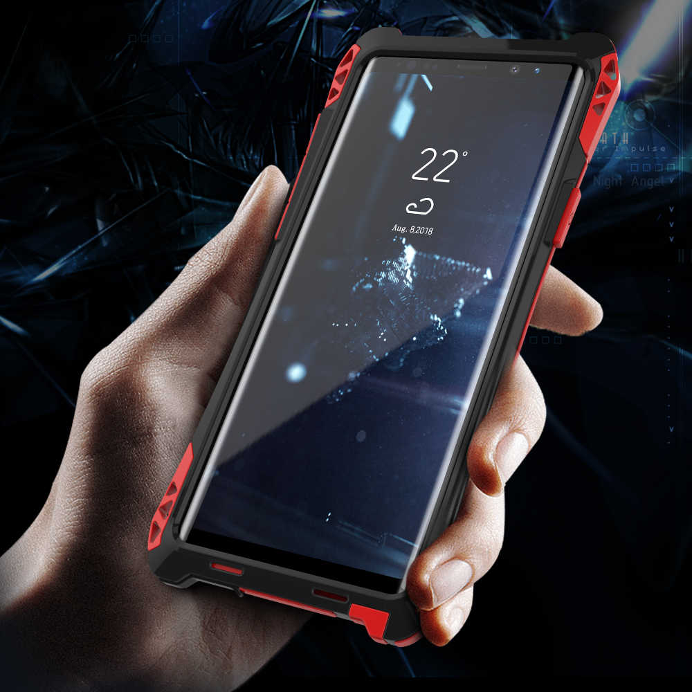 fe0eccf91 ... Luxury Armor Phone Case For Samsung Galaxy Note 9 Note 8 S9 S8 Plus Cases  Waterproof ...