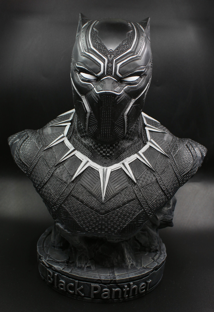 1/2 scale Black Panther Resin Action Figure  painted figure Captain America III Black Panther Bust Doll 7 screen win ce 6 0 car gps navigator w bluetooth fm ddr256m russia map black blue