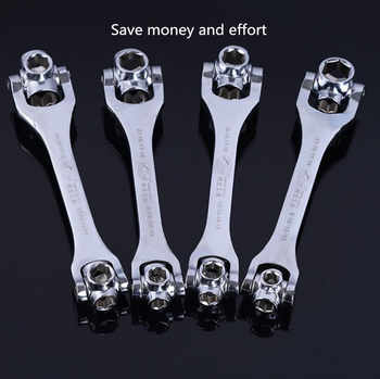 Xltown the new 8-in-1 two-way ratchet wrench multi-function socket ratchet wrench High quality repair tools Efficient tools
