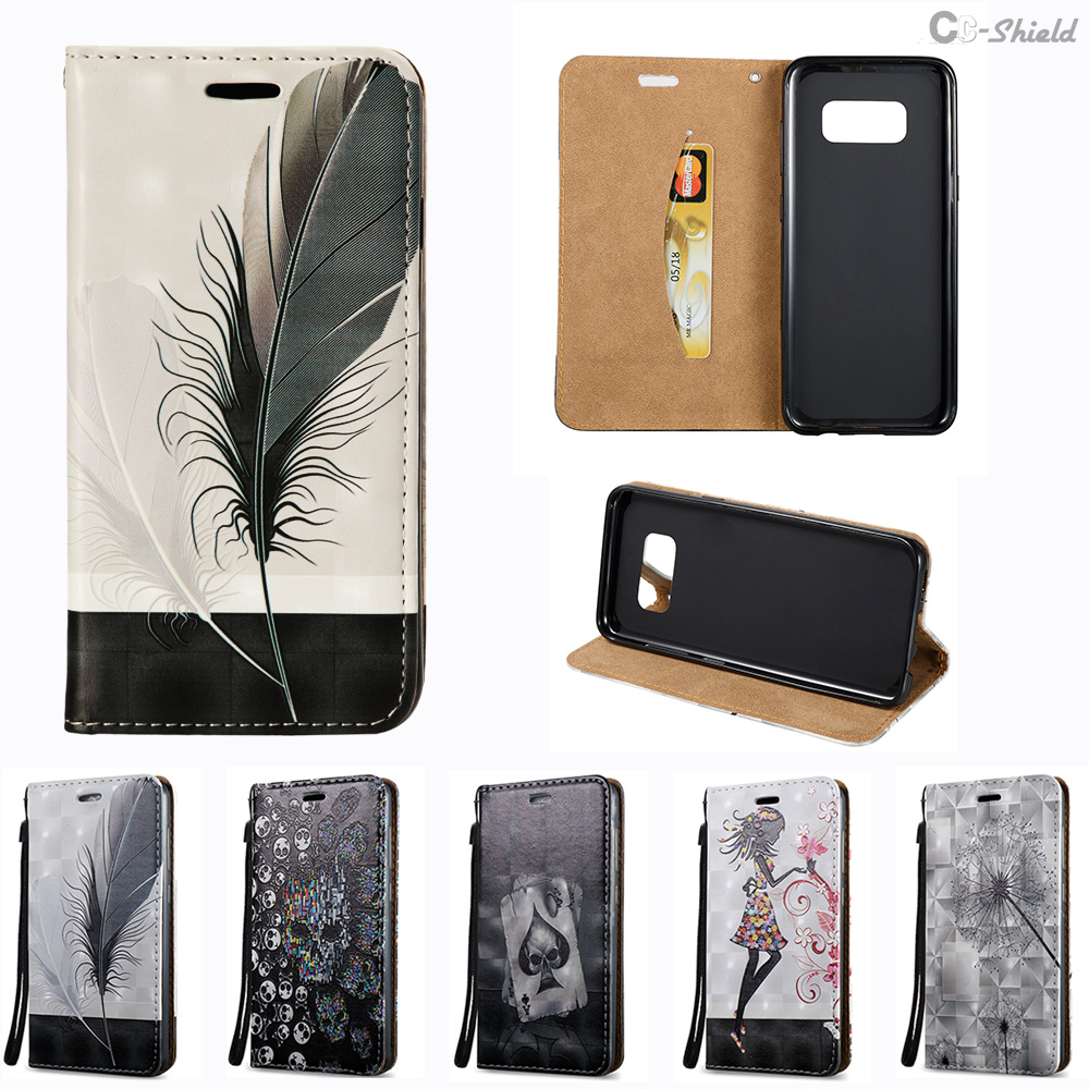 3D Flip Case for Samsung Galaxy S8 G950FD SM-G950FD Case Leather Cover for  Samsung S 8 Dream G950F