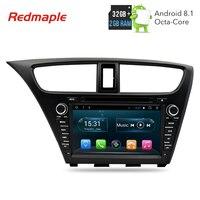 Android 8,1 Автомобиль Радио DVD навигации мультимедийный плеер для Honda Civic хэтчбек 2013 2014 2015 Авто аудио gps Bluetooth стерео
