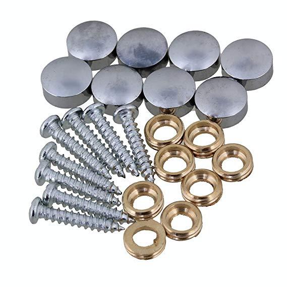 8 Stks Meubelen Fitting Zilveren Ronde Koperen Schroefdop Nagels Spiegel Tafel Decoratieve Nagels 10mm Dia Chinese Smaken Bezitten