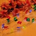 BZ248 3 М 30LED Рождество Свадьба Украшение Света Строки Медной Проволоки Струнные Светильники CR2032 Батареи СВЕТОДИОДНЫЕ Гирлянды