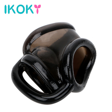 IKOKY Male Masturbator Cock Ring Penis Ring Male Chastity Device Sex Toys for Men Male Dildo Extender Delay Ejaculation