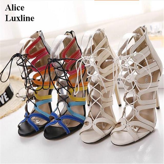 Fashion Women High Heels Open Toe Cut Outs Shoes