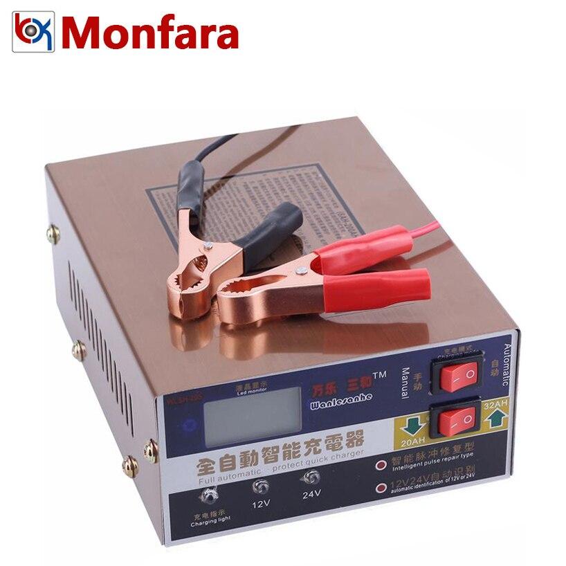12 v 24 v 6-200AH Entièrement Automatique Chargeur de Batterie D'impulsion Intelligente Réparation Type De Charge pour Voiture Camion Auto Au Plomb GEL AGM 100AH