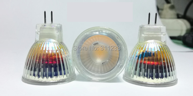 12V AC DC MR11 LED Light Bulb 3W GU4 Base 300LM Wide Flood Angle Mini Size 35x40mm Clear Glass Same Size as Halogen Bulb in LED Spotlights from Lights Lighting