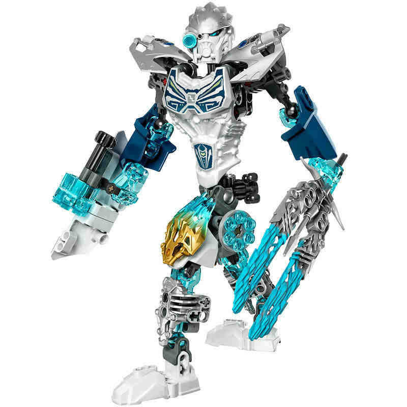 Bevle XSZ 611-4 Biochemical Warrior BionicleMask of Light Bionicle Kopaka Ice Building Block Compatible with LEPIN 71311 Toys magformers window basic 14 set 714001