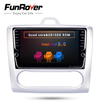 FUNROVER ips 8 Android 8,0 2 Дин DVD gps для Ford Focus mondeo navi видео стерео радио мультимедиа RDS BT Wi Fi видео без dvd