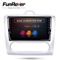 FUNROVER ips 8 Android 8,0 2 Дин DVD gps для Ford Focus mondeo navi видео стерео радио мультимедиа RDS BT Wi Fi видео без dvd