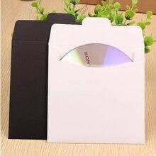 10pcs/lot 12.5*12.5*cm Black And White Disc Paper Envelope Bag CD And DVD cover CD sets Envelope Bag все цены