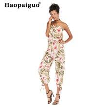 Plus Size 2019 Summer Slash Neck Bodysuit Women Chiffon Sexy Bodysuit Backless Print Floral Bodysuit