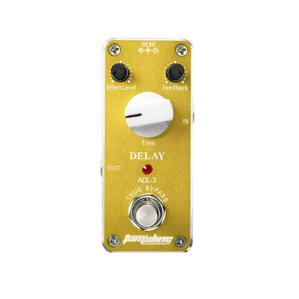 Aluminum Alloy Housing True Bypass Design Aroma ADL-3 Mini Delay Electric Guitar Effect Pedal with Magic Tape New Hot mooer ensemble queen bass chorus effect pedal mini guitar effects true bypass with free connector and footswitch topper