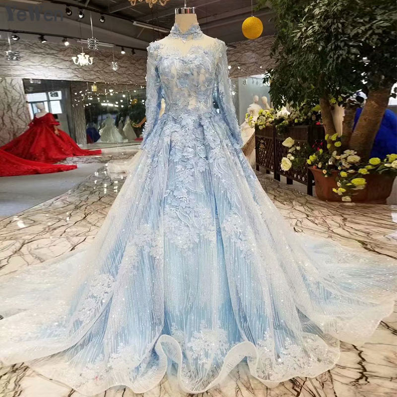 Blue Wedding Dresses 2019: 2019 New Royal Blue Lace Wedding Dresses Lace Up Elegant