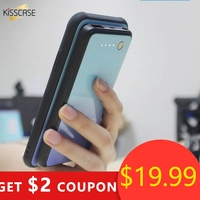 KISSCASE Gradient Tempered Glass Battery Charger Case For Samsung Galaxy S10 Plus S8 S9 Note9 Magnetic Wireless Power Bank Case
