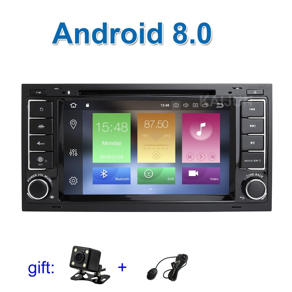 Schermo IPS 4g di RAM Android 8.0 Auto Lettore DVD Radio per VW T5 Transporter Multivan Touareg con WiFi BT GPS Stereo