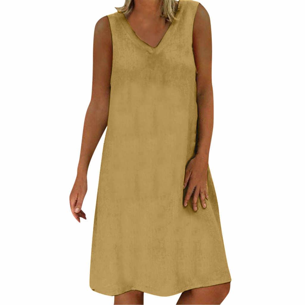 Feitong Passo Vestido Profissional Vestido Casual Feminino Vestido T-shirt de Algodão Casual Plus Size Senhoras Vestido #3