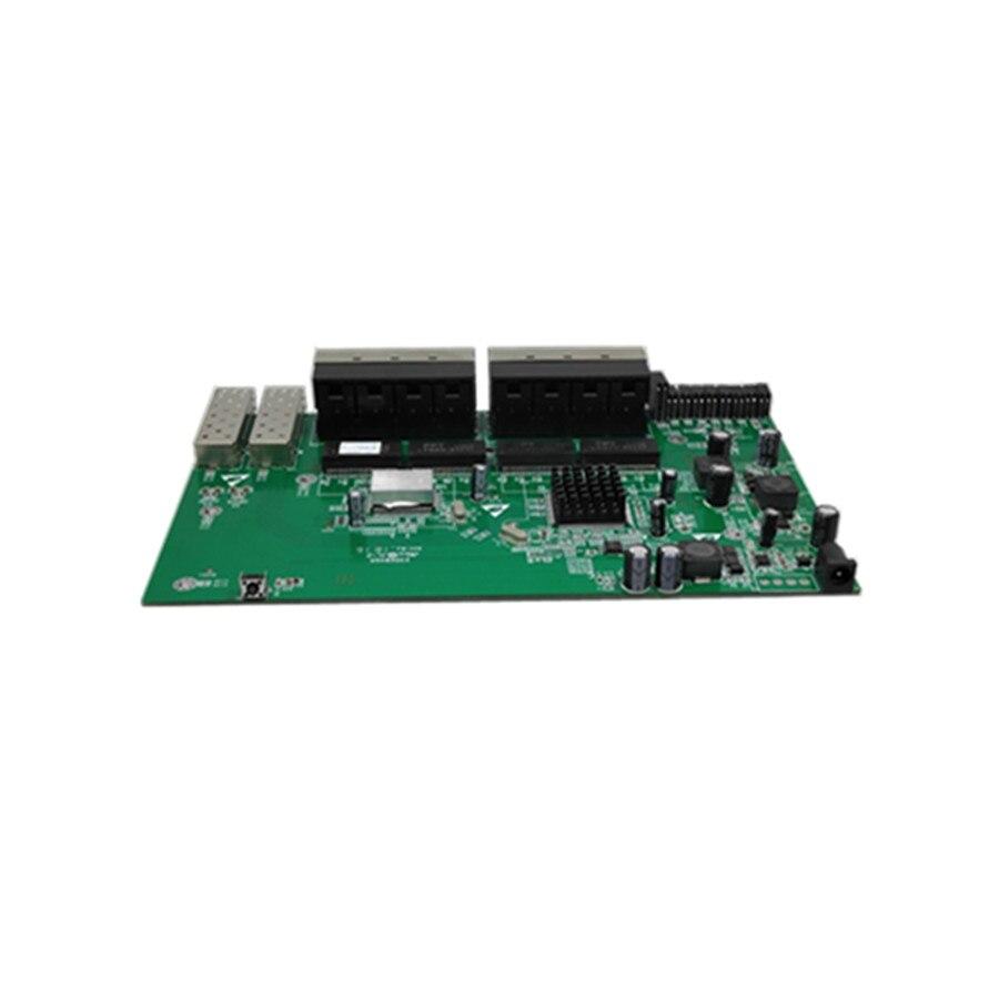 Купить с кэшбэком With VLAN GPON/EPON SOLUTION SUPPLIER  24V 16 port 10/100M Reverse POE switch With 2 gigabit sfp port  PCB