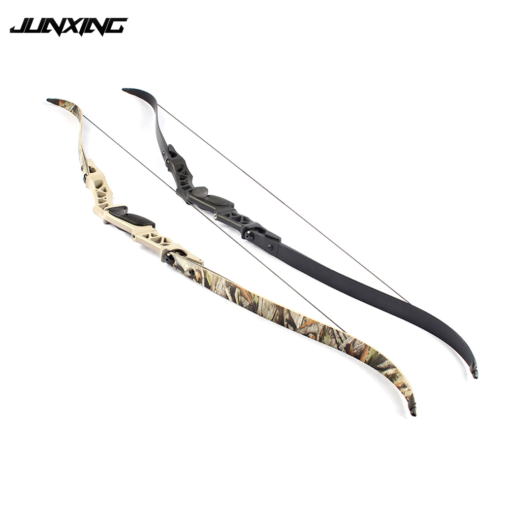 F166 Recurve Bow 30-55 Lbs Length 64 Inches In Camo/Black With Riser Limbs String Fit Outdoor Archery Hunting Shooting Activity