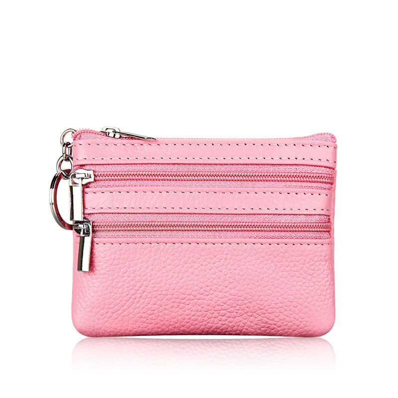TRASSORY  Little Girl Purses Hand Coin for Ladies Genuine Leather Zipper Casual Women Mini Bag