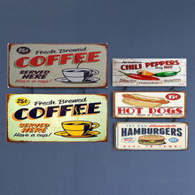 Chili Peppers Vintage Metal Plate Tin Signs Wall Poster Decals Painting Bar Club Pub Home Decor 30*20cm 1001(710)