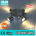 Free Shipping AC85~265V 4W LED Wall Lights Different Choice of Light Color 3 Years Warranty Household & Commercial Indoor Lights