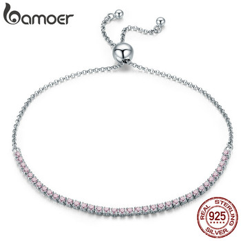 BAMOER  925 Sterling Silver Sparkling Strand Bracelet 1