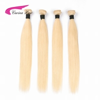 Carina Pure Blonde Color Brazilian Straight Hair Bundles 613 Color Hair Weft 1 Pcs Non Remy