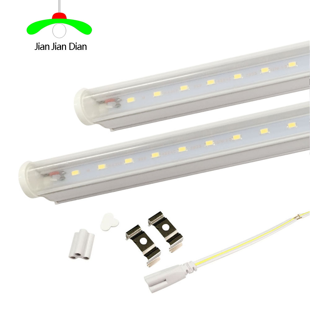 LED Tube T5 Light 110V 220V 30cm 6w 60cm 10w LED Fluorescent Tube T5 Wall Lamps warm/white T5 Bulb Light clear /milky cover 2pcs set t5 led light tube ac85 265v 2 5w wall lamps 1ft led t5 tube fluorescent lamp lights connect cord power switch cable