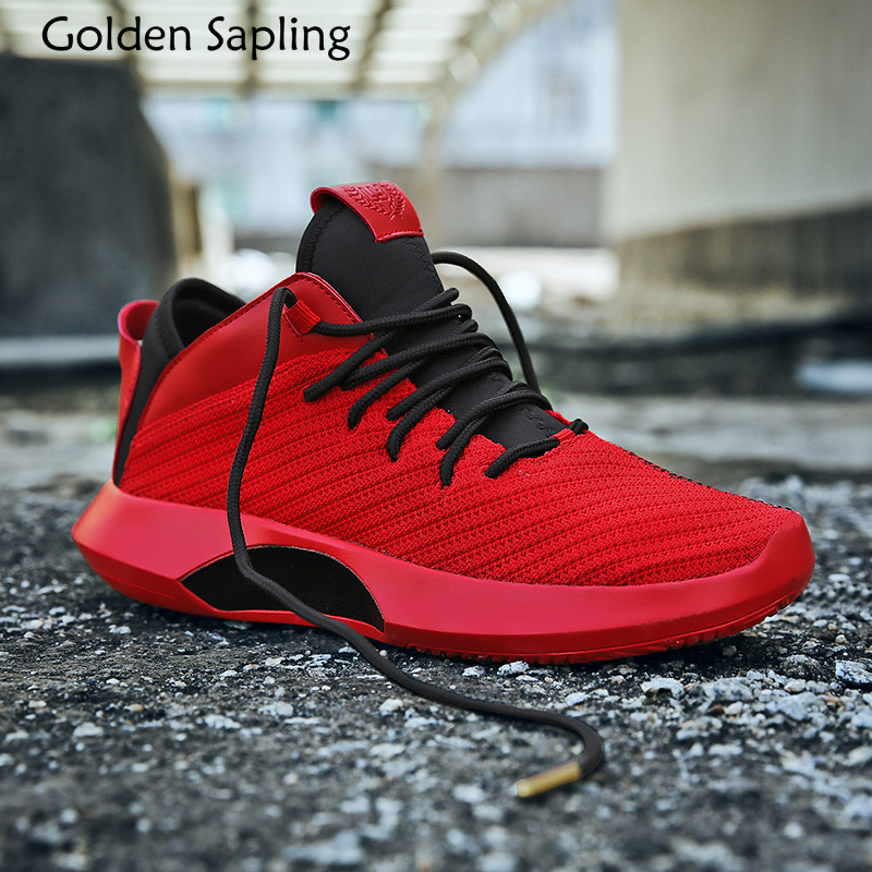 Golden Sapling Mens Basketball Shoes Men's Sneakers Basketball Athletic Sport Shoes Men Breathable Massage Male Sports Sneakers peak men athletic basketball shoes tech sports boots zapatillas hombres basketball breathable professional training sneakers