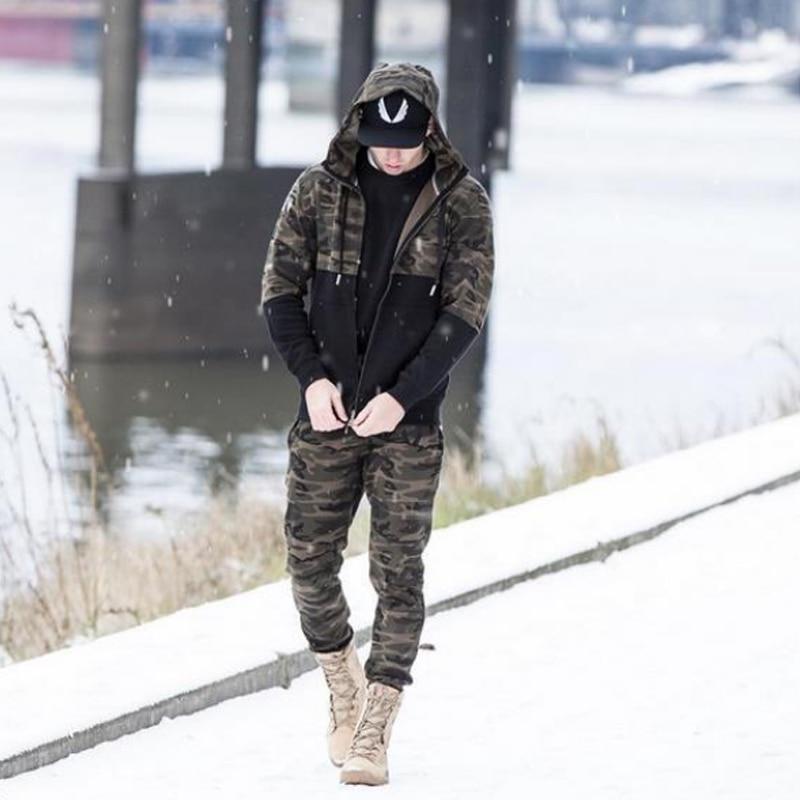2018 männer Casual Hosen Camouflage Print Baumwolle Hosen Kordelzug - Herrenbekleidung - Foto 2