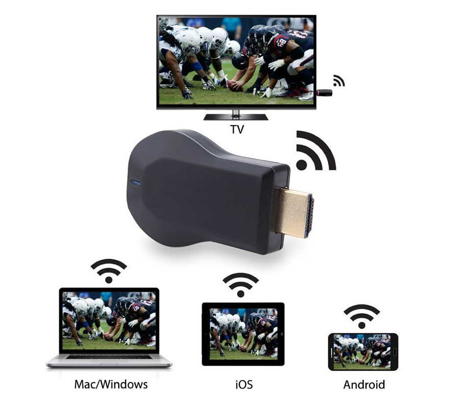 Dongle-Receiver Tv-Stick Display Android-Adapter Hdmi-Media-Video Anycast M4-Plus 1080P