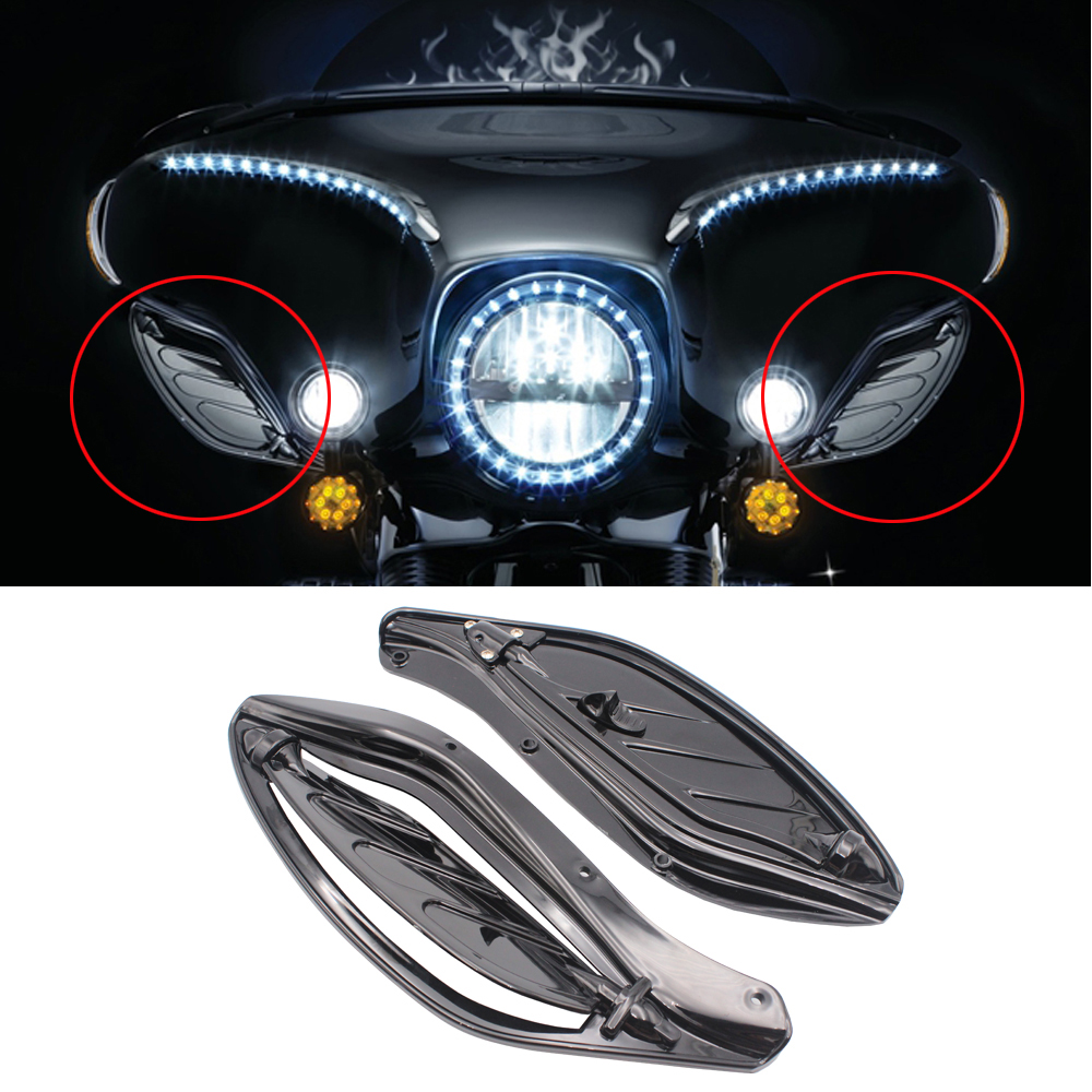 Adjustable Side Wing Deflector Cover Case for Harley Electra Glide Ultra 1996 2013