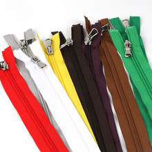 5#70CM,Metal Head Nylon Open-End Colorful Zipper,Zipper Accessories For Manual DIY Pants/Clothing/Pillow/Bag/Shoes/Garment(China)