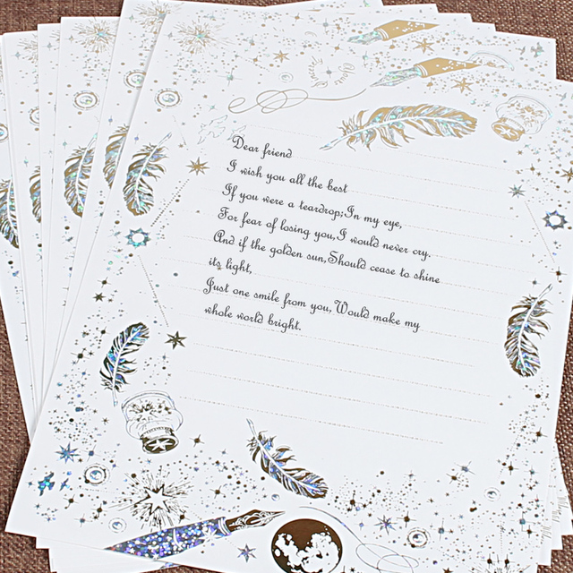 8pcs/lot letter paper set Vintage stationary stationery writing gift