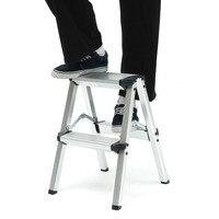 150KG Maximum Load 2 Step Stool Folding Ladder Anti Slip Safety Aluminium Ladder