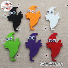 4.8CM Non-woven patches Halloween ghost Felt Appliques for clothes Sewing Supplies diy craft ornament trendy non stick diy ornament