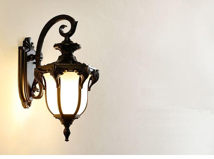 Europeu ao ar livre lâmpada de parede