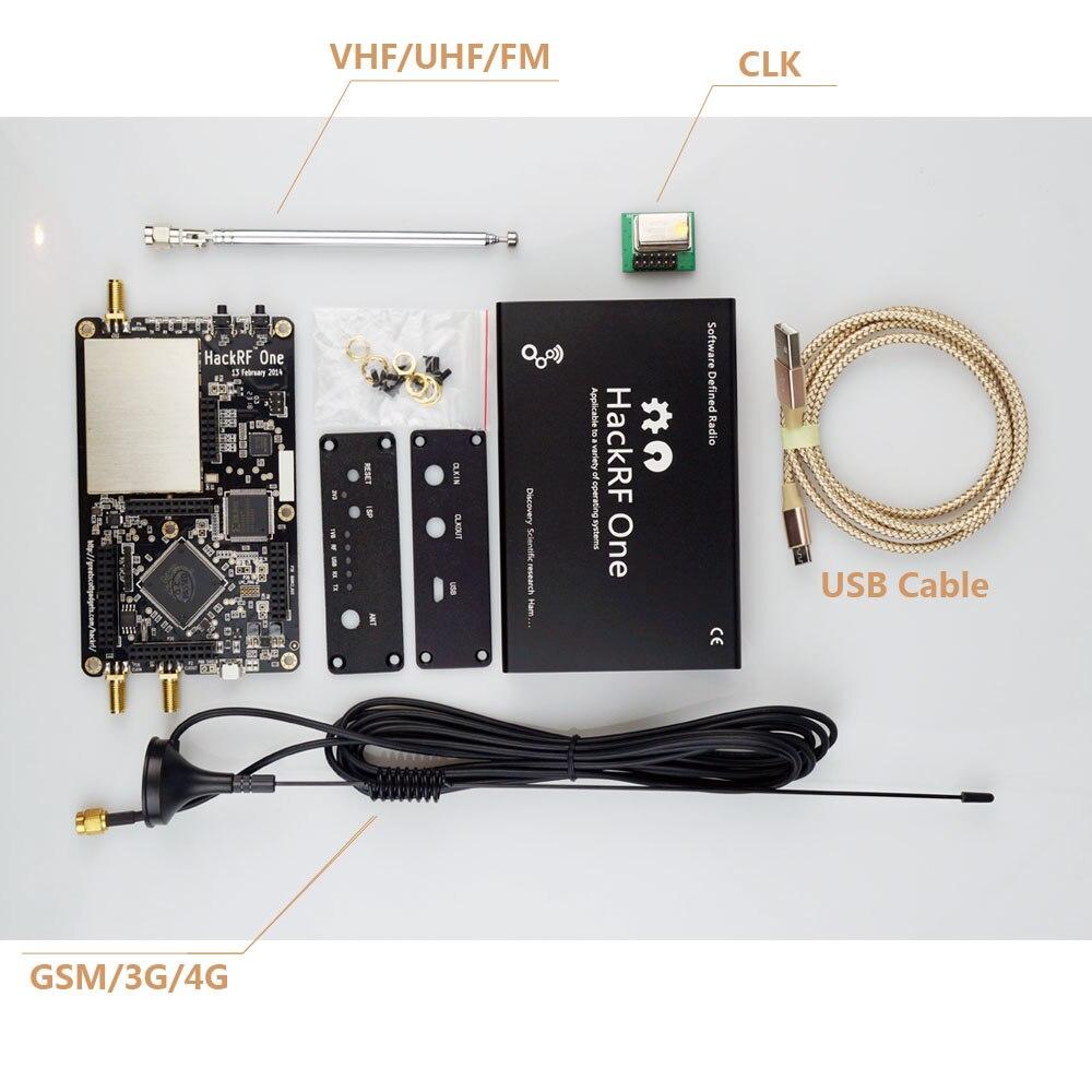 HackRF une réception de plate-forme usb de signaux RTL SDR logiciel défini Radio 1MHz à 6GHz logiciel kit de carte de démonstration récepteur dongle