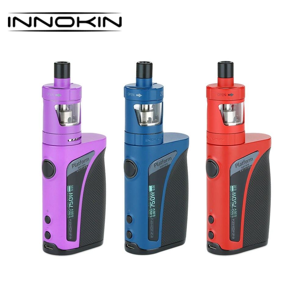 Originale Innokin Kroma-TC Kit 75 w Mod Built-In 2000 mah & 4 ml/2 ml Zenith atomizzatore e 0.8ohm/1.6ohm Bobina MTL E-sigarette Vape Kit