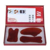 100% Natural red agatemassage plate body face Massager Guasha scrape guasha plate acupoint massage 0016