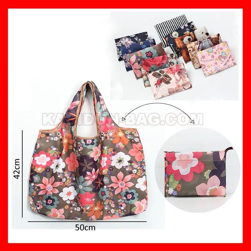 100 peças lote reutilizáveis folding shopping bag dobrável