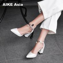 7d66e5adc21 HOT Dress Shoes High Heels Boat Shoes Wedding Shoes tenis feminino Summer  Women Shoes Pointed Toe