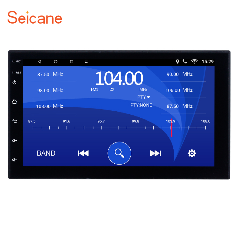 Seicane Universal 2 Din Android 6.0 Car Navigation Stereo for Honda Kia Nissan Suzuki Toyota VW Quad core Bluetooth Radio WIFI