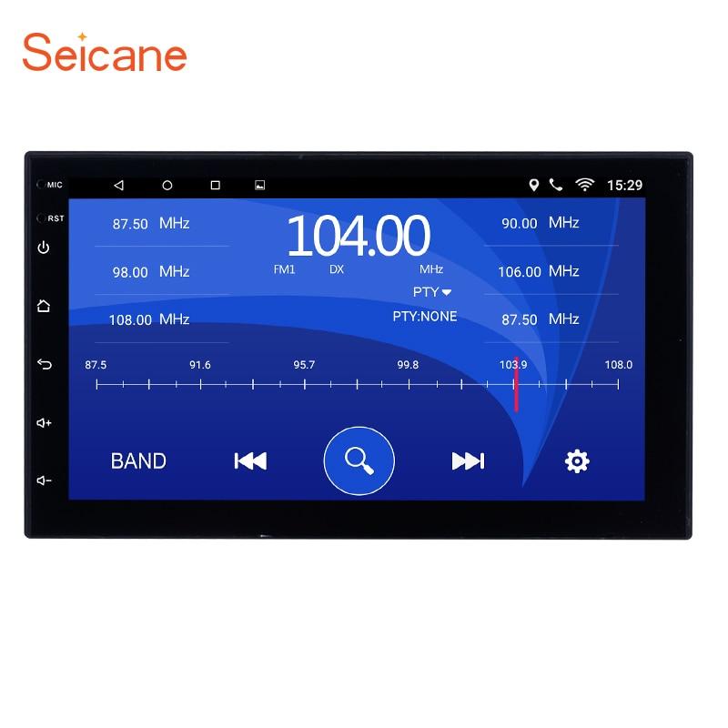 Seicane Universal 2 Din Android 6.0 Car Navigation Stereo for Honda Kia Nissan Suzuki Toyota VW Quad-core Bluetooth Radio WIFI