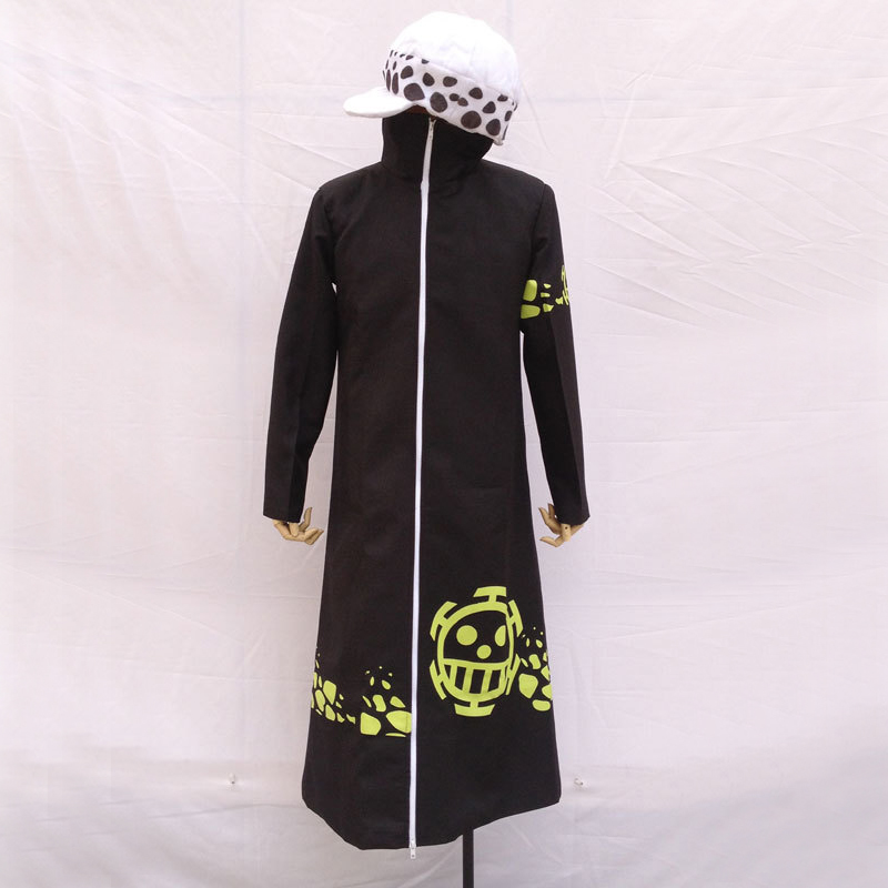 Anime One Piece Trafalgar Law After 2 Years Cosplay Costume Coat Cloak Outerwear Hat Free Shipping
