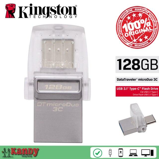 Kingston OTG Type C usb 3.0 3.1 flash pen drive 16gb 32gb 64gb 128gb Smartphone Mac cle usb stick mini chiavetta gift wholesale