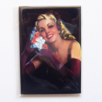 Poster Magnets , Vintage Pin-up Girl Souvenir Rectangle  Magnets sfm-22 Drop Shipping Accept
